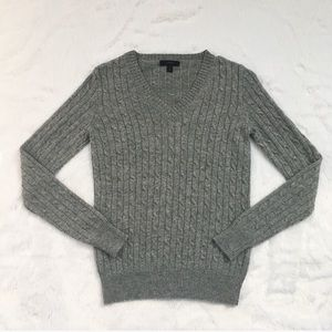 J. Crew Gray Cable Knit Sweater